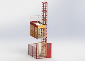 SC100单笼货用升降机